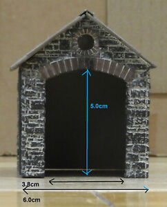 OO9 Gauge 009 Scratch Built Small Single Road Engine Shed - Plastic Construction