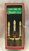 Vintage Christmas Candle Trio Battery Operated Christmas Around the World