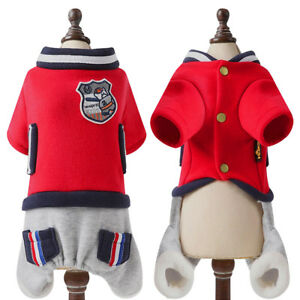 Dog Winter Clothes Small Dogs Pet Puppy Jumpsuit with Sleeves Warm Jacket Coat