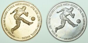 LUTON TOWN FOOTBALL CLUB CENTENARY OFFICIAL COMMEMORATIVE 1985 38mm PROOF MEDALS