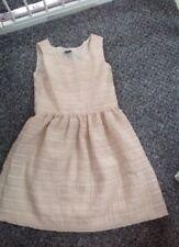 Gap filles sans manches beige brillant Doublé Robe Taille L FIT 10 ans