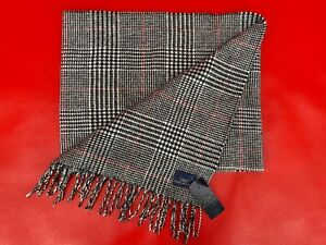 Brooks Brothers 100% Cashmere Houndstooth Scarf Made In Scotland NWT FREE SHIP