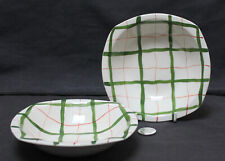 Vintage Midwinter Stylecraft Homeweave Green : 2 x Breakfast / Dessert Bowls (a)