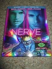 Nerve (Blu-ray/DVD, 2016, 2-Disc Set) Emma Roberts