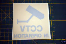 5 CCTV SECURITY STICKERS FOR YOUR HOME OR WORK