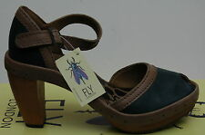 Fly London Curl Chaussures Femme 41 Sandales Escarpins Salomé Espadrille UK8 New
