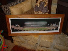 NEW ENGLAND PATRIOTS RUSTIC CEDAR PANORAMIC FRAMED OPENING AT GILLETTE