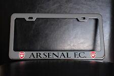 """ARSENAL F.C."" License Plate Frame, Custom Made of Chrome Plated Metal"
