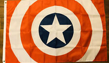 Captain America Flag 3x5 Marvel Flag Star Logo Man Cave