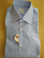 NWOT Brooks Brothers Blue w White Stripe Cotton Shirt 15.5-32/33 MSRP $278