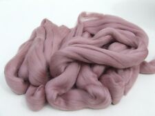 100g Fine Coloured Merino Wool 19.5mic top roving spinning felting Dusky Pink