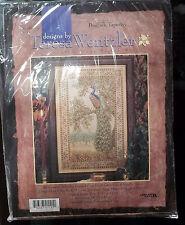 PEACOCK TAPESTRY Cross Stitch KIT 41121 Designs Teresa Wentzler 22.5 X 14.5 New