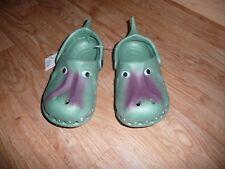 Kids Crocodile Cayman Alligator GREEN shoes sandals size euro 32 uk 13 *NEW*