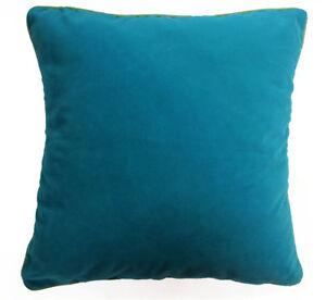 Mb69a Teal Blue Plain Flat Velvet Style Cushion Cover/Pillow Case *Custom Size*