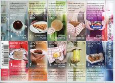 Netherlands 2017 MNH Dutch Delicacies 10v M/S Gastronomy Cultures Stamps