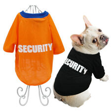 SECURITY Summer Pet Dog T-shirt Small Medium Dogs Clothes for Pet Yorkie S-2XL