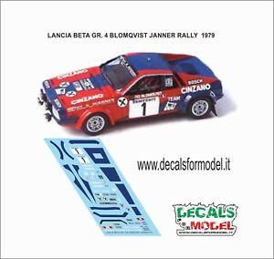 DECALS 1/43 LANCIA BETA GR 4 BLOMQVIST JANNER RALLY 1979