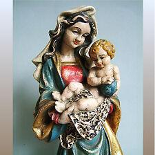 * Hl. Maria mit dem Jesuskind * Holzschnitzerei 25cm * farbige Fassung * Carving