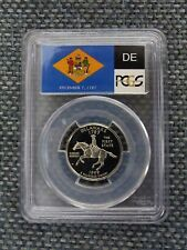 1999-S 25c Delaware CLAD State Flag Labeled Quarter Proof Coin PCGS PR70DCAM