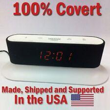 SecureGuard HD 720p Onn Alarm Clock Radio Spy Camera Covert Hidden Nanny Cam