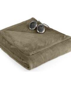 NEW Sunbeam Slumber Rest Twin Velvet Plush Heated Blanket MSRP $180