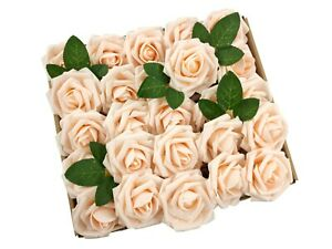50/25pcs Artificial Flowers Real Looking Foam Roses Decoration DIY for Wedding