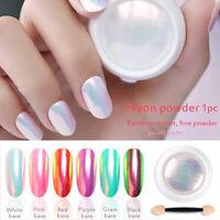 Mermaid Effect Mirror Glitter Chrome Powder Nail Art Pigment Manicure Decor DIY~