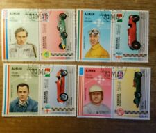 VINTAGE LOT OF 4 ,Ajman, MI #364-79, MNH, 1969, Race Cars & Drivers, CL84F STAMP
