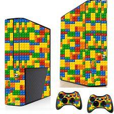 Mattoncino Lego Autoadesivo / Pelle XBOX 360E console & controller remoto ADESIVI, xsk1