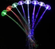 LED Hair Light  Flashing Fiber Optic Hair Braid Barrettes light up Party Toys 10