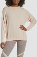 $340 Alo Womens Pink Crewneck Long Sleeve Oversized Soho Pullover Sweater Size S
