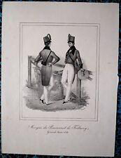 Lithographie de Bader, Pensionnat de Fribourg, Tenue