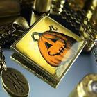 "Jack-O-Lantern Pumpkin Halloween Pendant Necklace 24"""