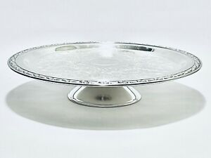 Wm Rogers /& Son Spring Flower 2042 Cakeplate or Cake Pedestal Plate Have Your Cake and Silver Too Vintage Silverplate Cake Stand