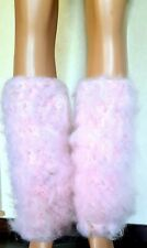 575g Luxury Hand Knitted Mohair Gaiters Leg Warmers Spats.Mega Thick Soft Fuzzy