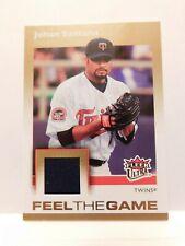 2007 Fleer Baseball, Feel the Game, Relic Card, Card#FG-SA, Johan Santana