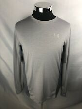 Under Armour Run Mens Xl Gray Performance Athletic L-Sleeve Running Shirt