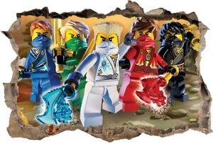 s6 NINJAGO 120cm STICKER 3D LEGO Wandaufkleber Wandtattoo