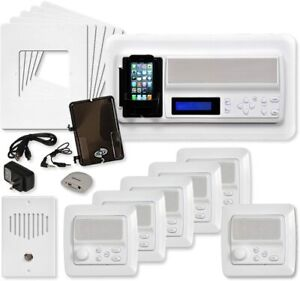 IST Intrasonic RETRO Music Intercom System Package, 5 Rooms Vertical Frames