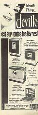L- Publicité Advertising 1961 Poele à mazout et cuisinière Deville