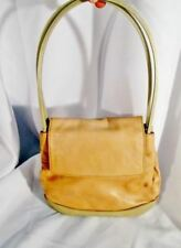 AUTHENTIC BALLY ITALY Lambskin Leather Shoulder Bag Purse Clutch Beige Tan