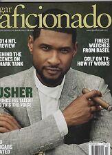 CIGAR AFICIONADO Magazine - Oct 2014 - USHER Cover - NFL Preview, Cigars, Basel
