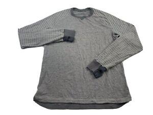 Lululemon Long Sleeve Striped Shirt Gray Men's XL