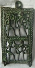 DECORATIVE BRASS WALL HANGING HUMAN DESIGN CLOTHES HANGER HAND CARVED COAT HOOK