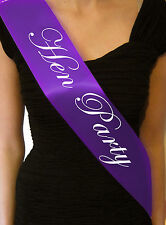 Purple Black HEN NIGHT SASH BRIDE ACCESSORIES PARTY SASHES GIRLS NIGHT OUT