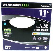 Metalux 11in. 14 Watt White Low Profile LED Round Ceiling Flush Mount Light New
