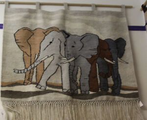 African Tapestry - Wall Hanging - Elephants