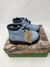 Vintage Timberland Toddler Boots Newman Chukka Powder Blue 12850 New Size 8