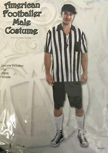 American Football Referee Sport Adult Fancy Dress Costumes