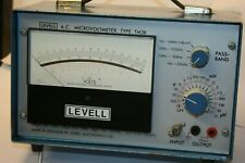 LEVELL A.C MICROVOLTMETER, broadband MICRO VOLT METER LEVELL TM3B